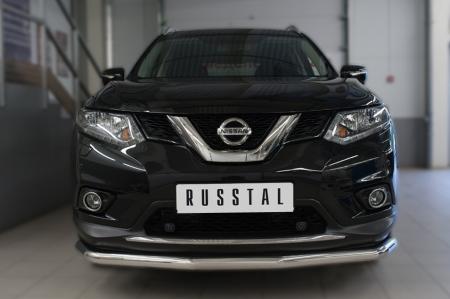 Nissan X-Trail 2015 Защита переднего бампера d63 (секции)  NXZ-002083